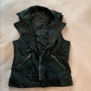 "Buffalo studded ""leather"" vest"